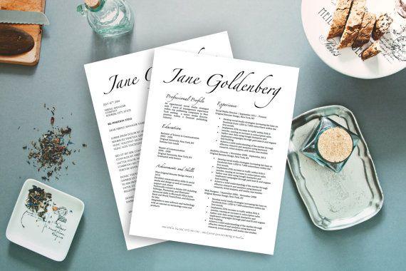 Jane Goldenberg Modern FANCY Resume Cover by OriginalResumeDesign