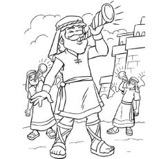 Jericho Coloring Page Wall Murals Pinterest Bible stories