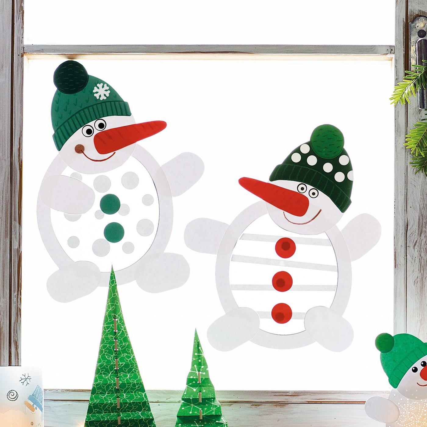Schneemänner bastelset für stück winter xmas and christmas decor
