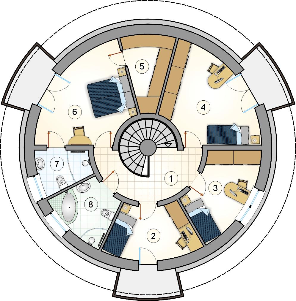 rzut pi tra s gl 868 orbis dom pinterest. Black Bedroom Furniture Sets. Home Design Ideas