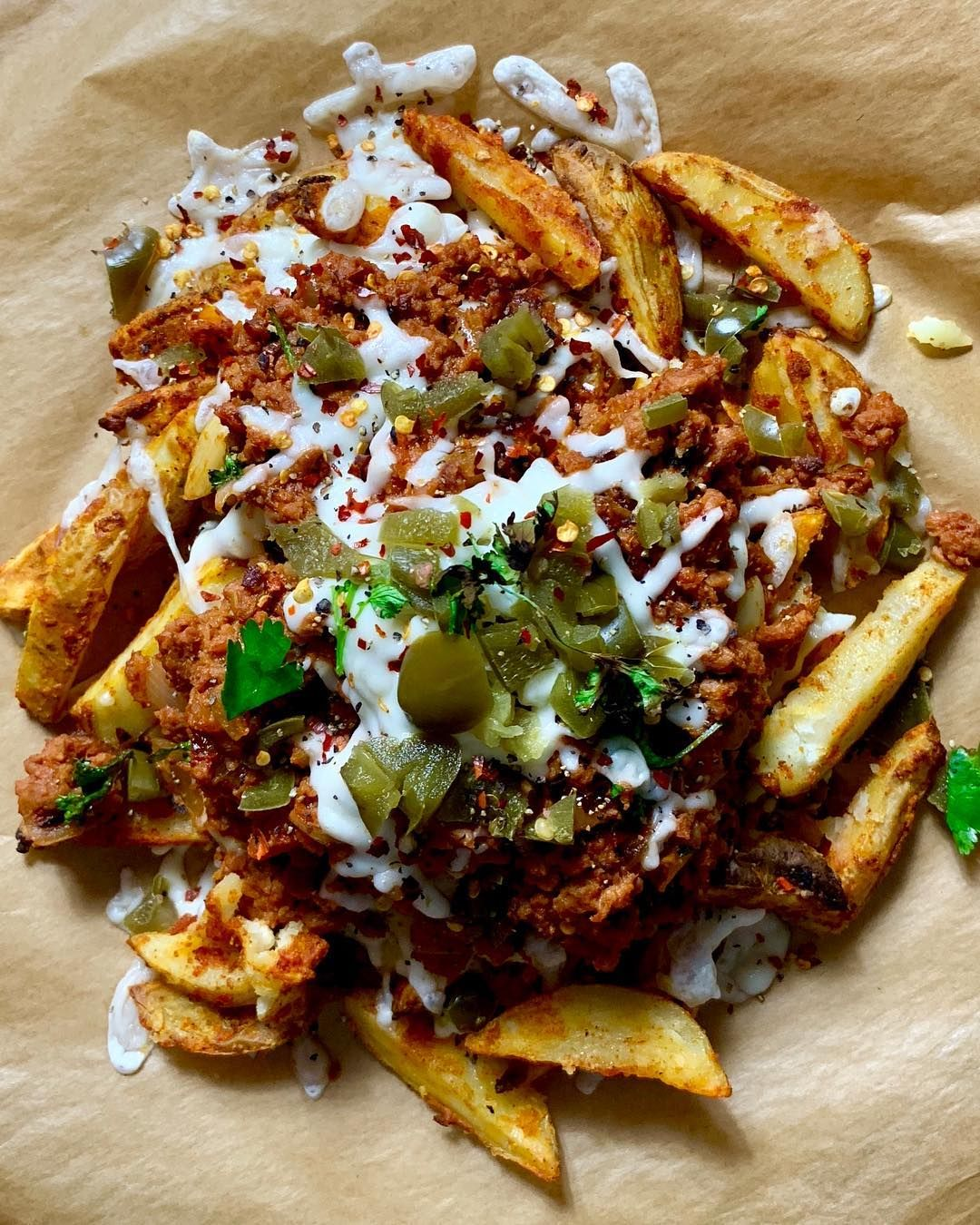 Meatless Farm Chilli Cheese Chips Chilli Cheese Fries Chili Cheese Fries Vegan Chilli