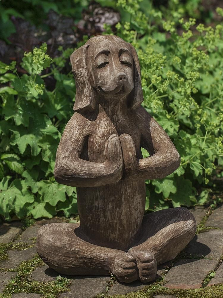 Yoga Dog Stone Garden Statues Dog Garden Statues Garden Statues
