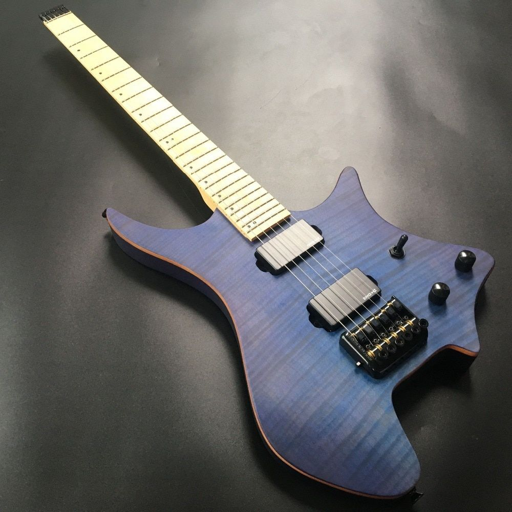 Find More Guitar Information About Blue Color Headless