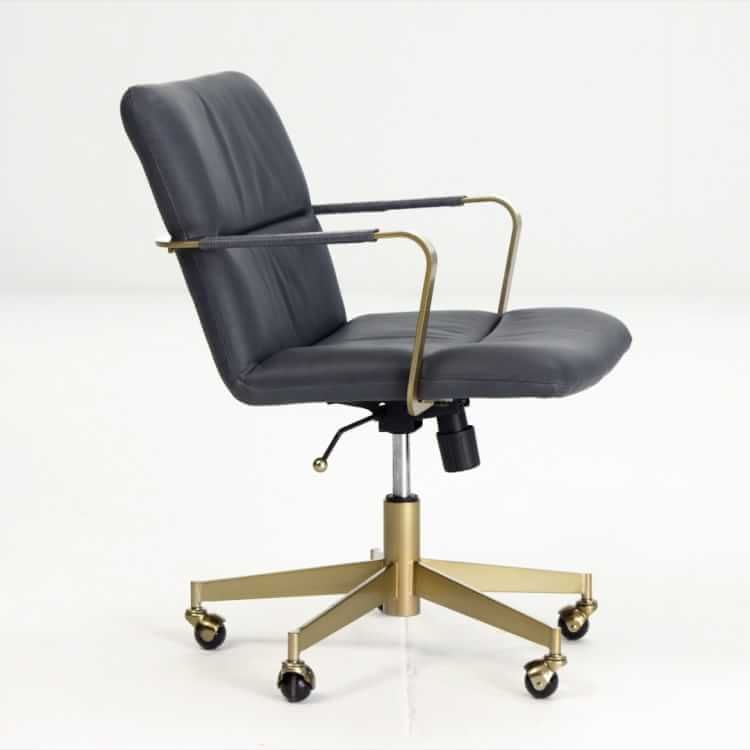 Cooper Mid Century Leather Swivel Office Chair In 2020 Swivel