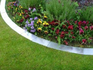 Metal Lawn Edging Silver Front yard Pinterest Lawn