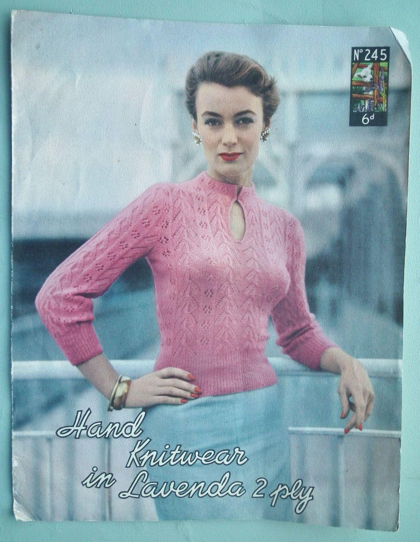 Vintage knitting pattern 1940s 1950s womens jumper sweater vintage knitting pattern 1940s 1950s womens jumper sweater mandarin collar 40s 50s original pattern 1800 bankloansurffo Choice Image