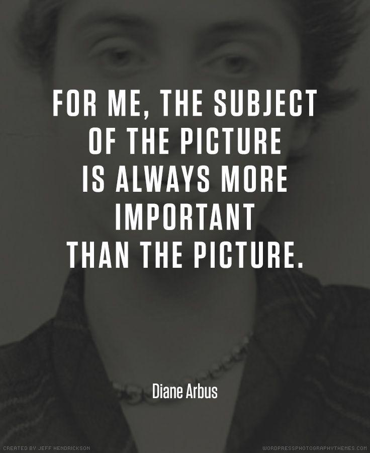 Diane arbus photographer quote photography quotes
