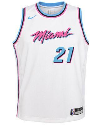 1fce7b2959e Nike Hassan Whiteside Miami Heat City Edition Swingman Jersey, Big Boys  (8-20) - White S