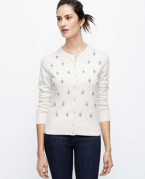 e7d129d179e Brit Crewneck Cardigan-Embellished. Brit Crewneck Cardigan-Embellished  Style And Grace