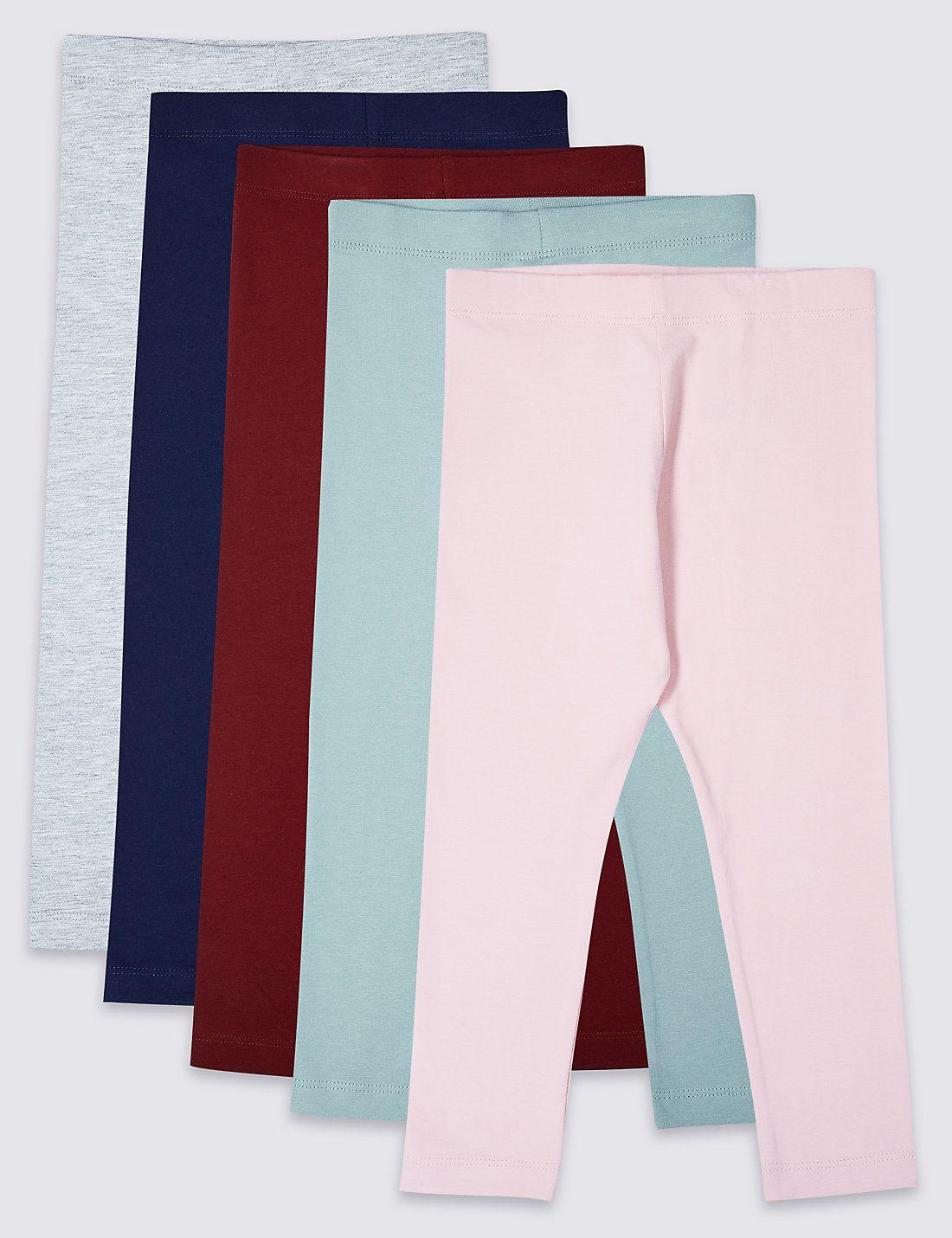 Baby Boys Girls 2 Pack Cotton Rich Jeggings Denim Style Stretch Leggings Pants