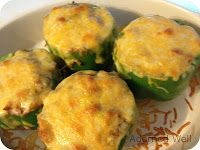 Adorned Well...a Hand Crafted Life: Low Carb Stuffed Green Peppers Recipe