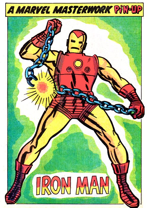 Iron Man artwork by Jack Kirby which the previous action ...