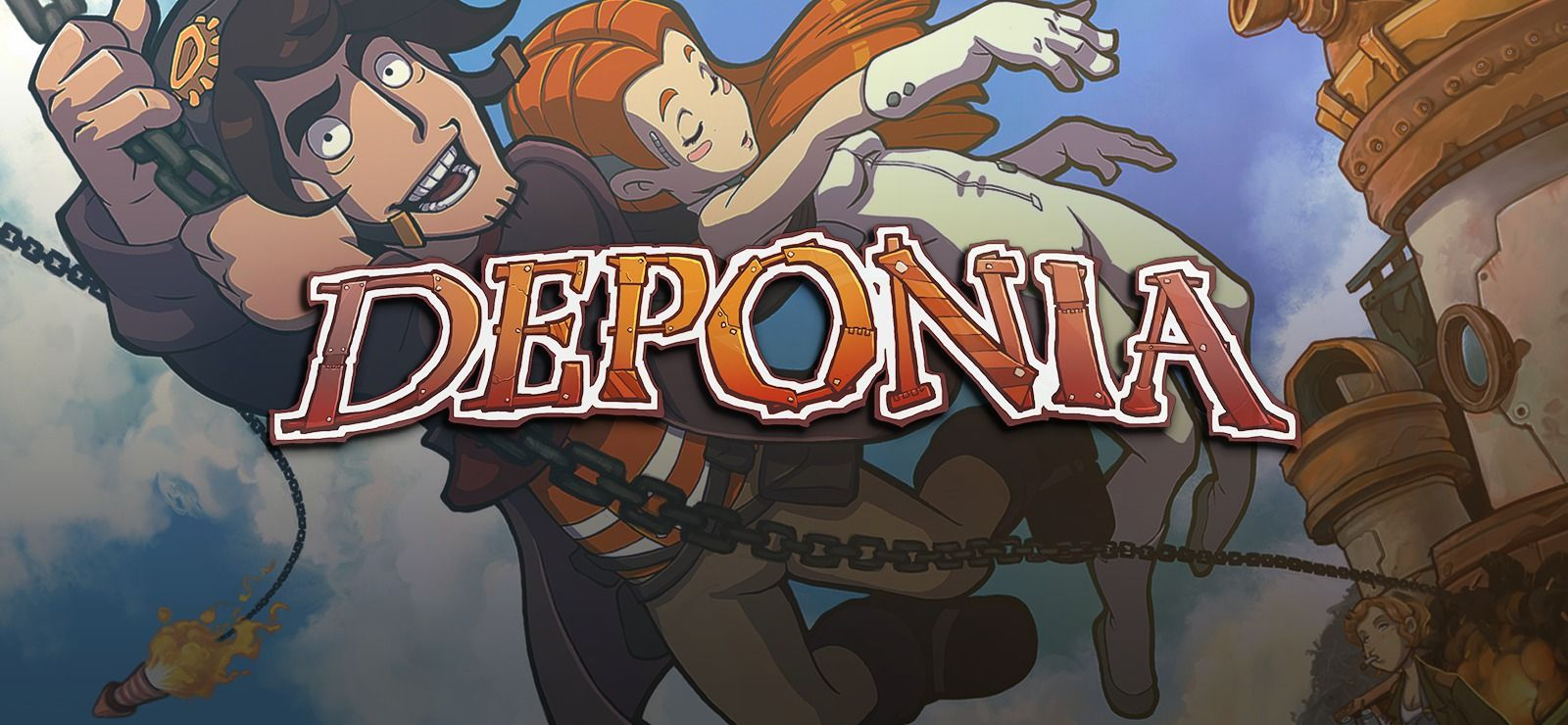 Deponia on Neon signs, Games, News games