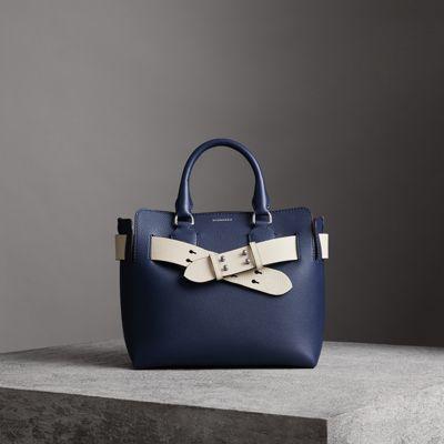 9140c095310e The Small Leather Belt Bag in Regency Blue - Women