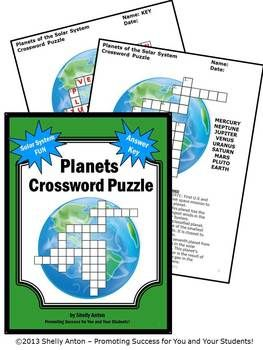 Solar System and Planets Worksheet, Science Crossword ...