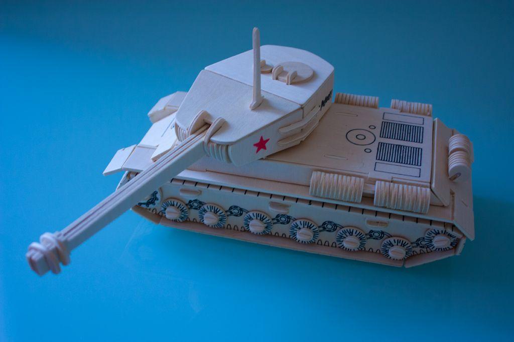 Модель танка ИС 2 | Вироби з фанери | Pinterest | 3d puzzles, Wooden ...