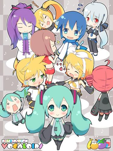 Vocaloid and one UTAU