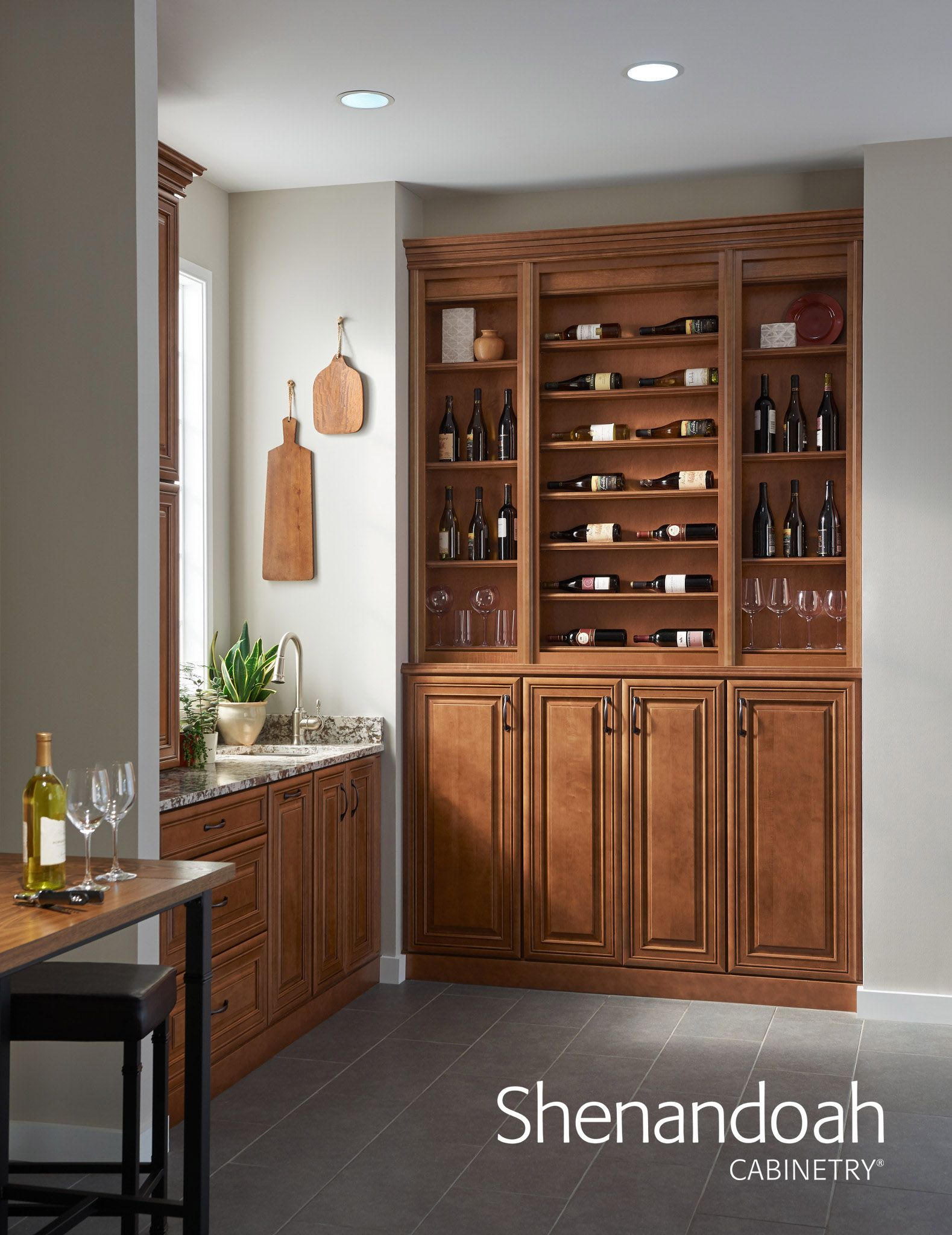 Reduced Depth | Glazed kitchen cabinets, Cabinet design ...