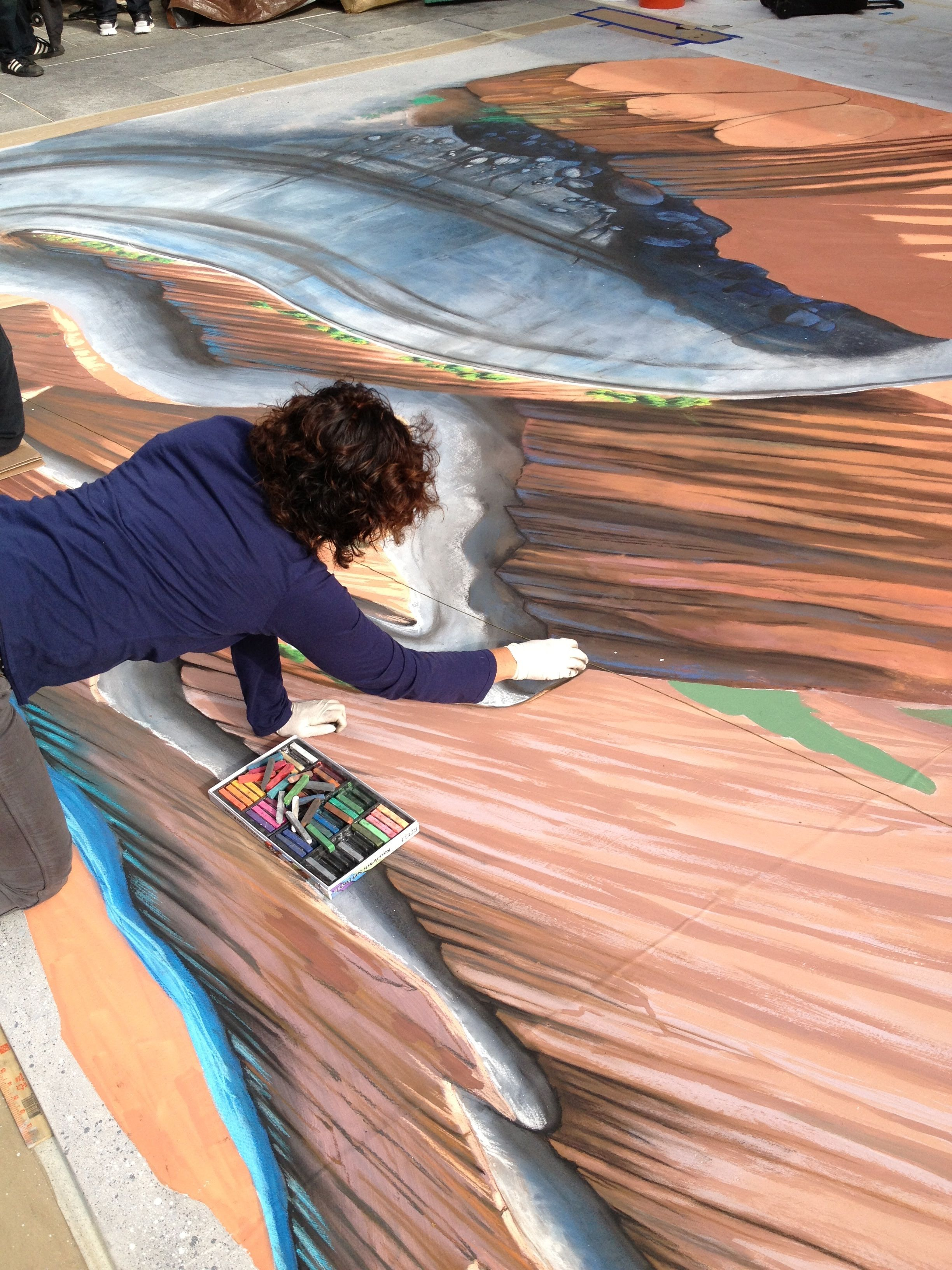 Tracyleestum 3dchalkart  streetpainting streetart ATS Grandesign cadillac  AugmentedReality
