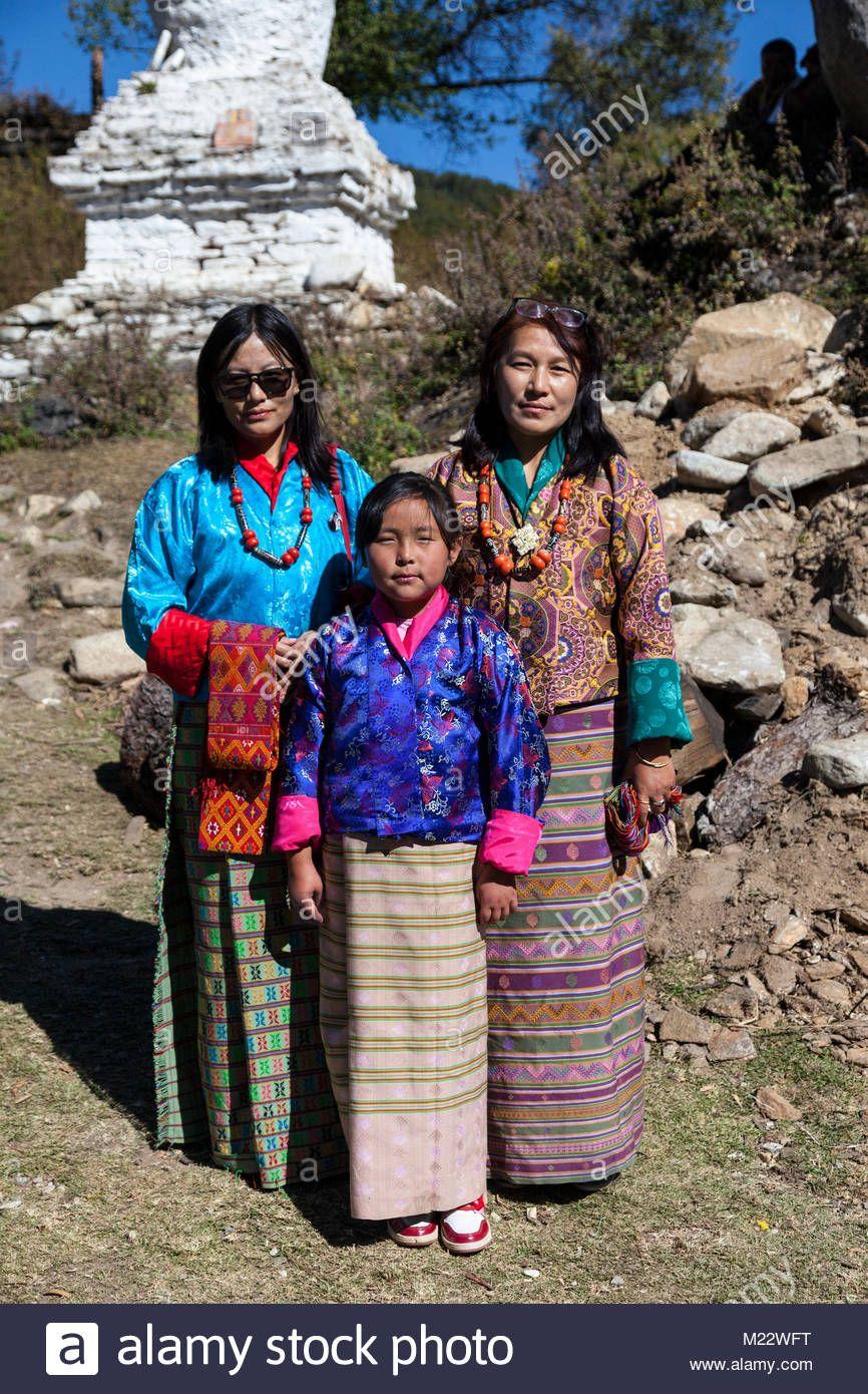 不丹 女性 With Images Bhutanese Clothing Traditional Dresses Teenage Girl
