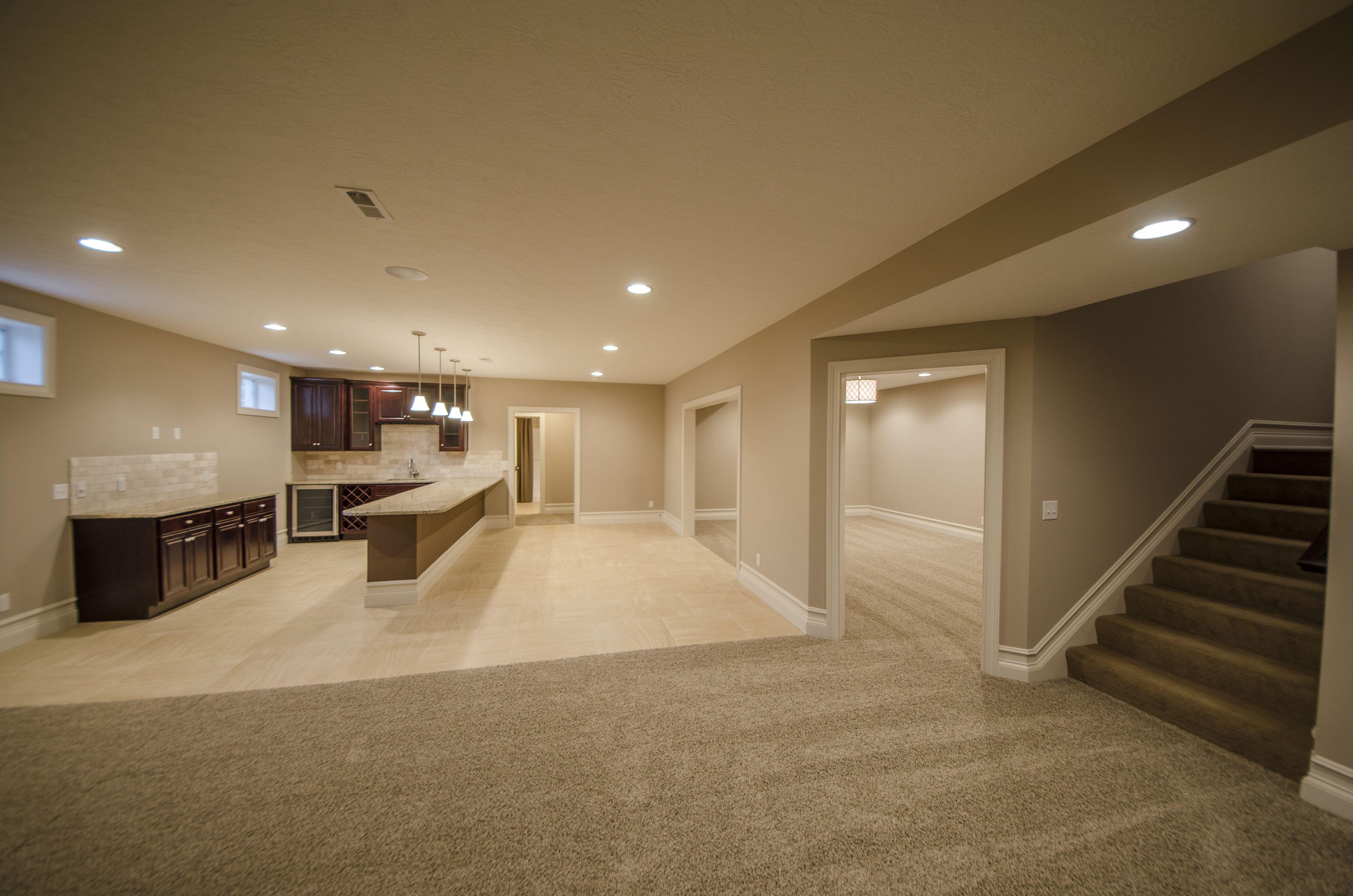 Custom Basement Built By Design Homes & Development Co