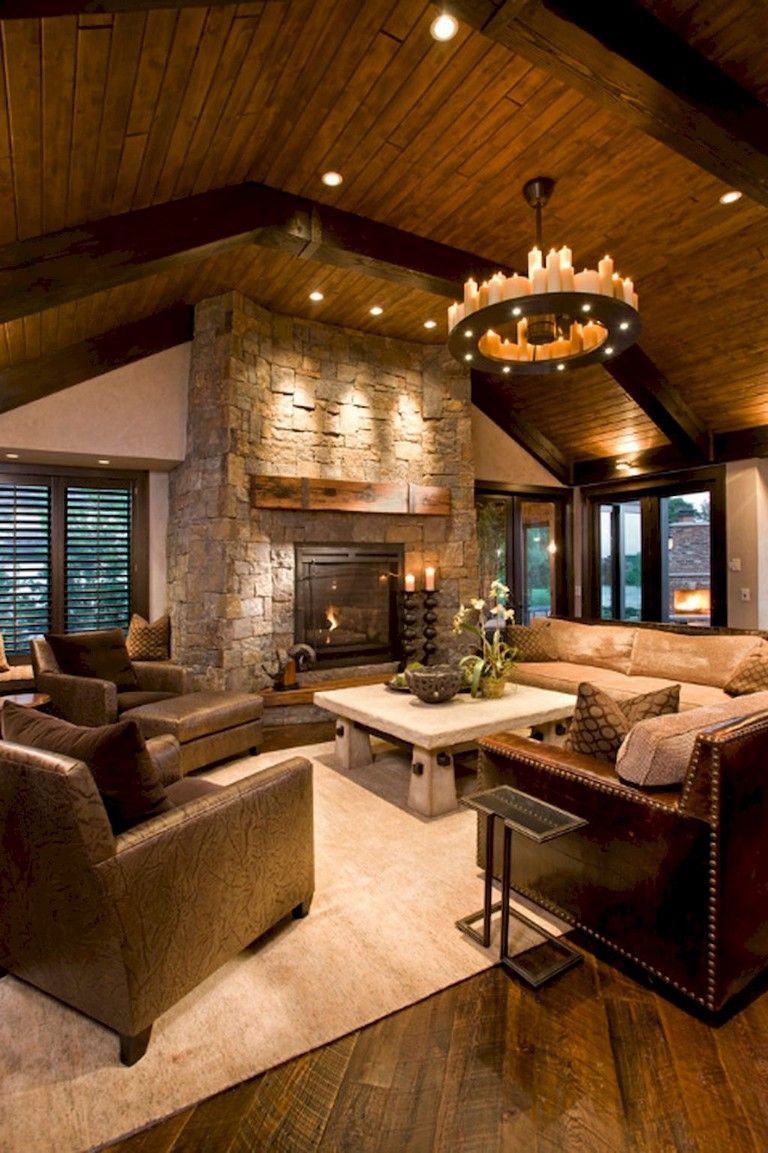 76 Rural Fireplace Decor Ideas Rustic Living Room Design Rustic Family Room Farm House Living Room #rustic #living #room #with #fireplace