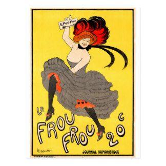 Filles de danse françaises de Frou Frou Cartes Postales