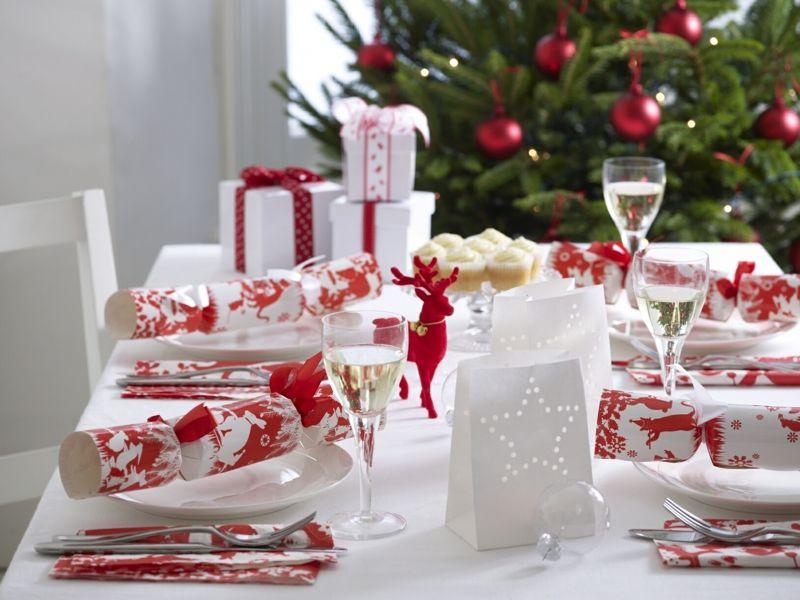 Tischdeko Weihnachten Diy Knallbonbons Geschenke Modern Rot Weiss