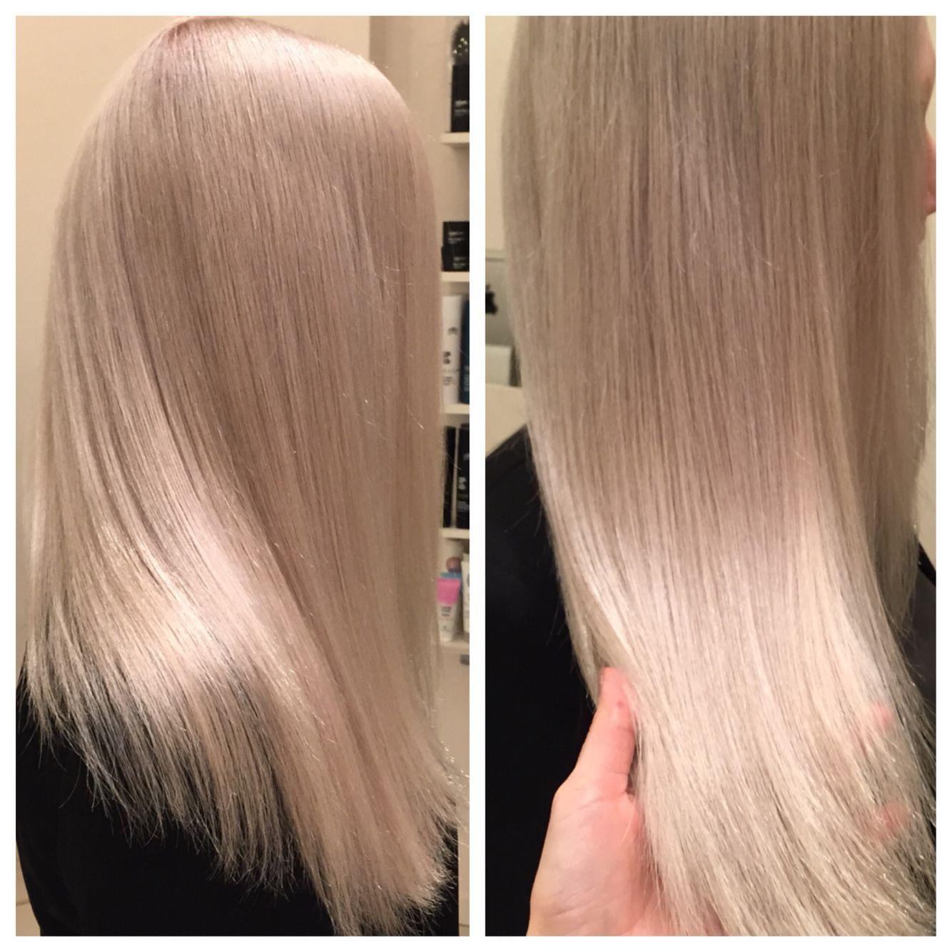 Silver blonde hair