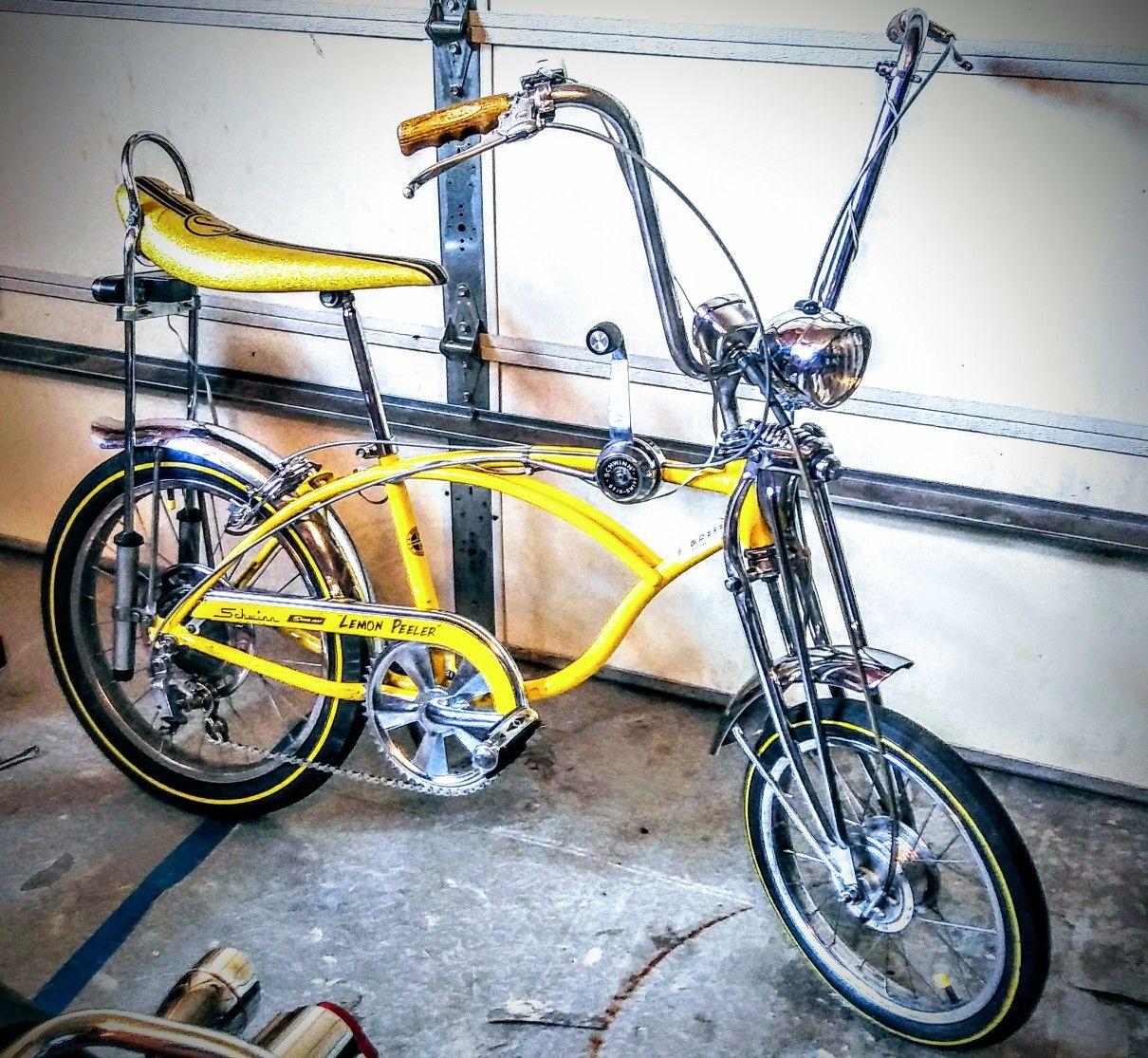 classic Schwinn LEMON PEELER bicycle DECAL for your CAR YELLOW