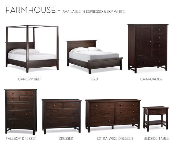 I Would Love Love Love To Have This Set In Our Room! Farmhouse Canopy Bed