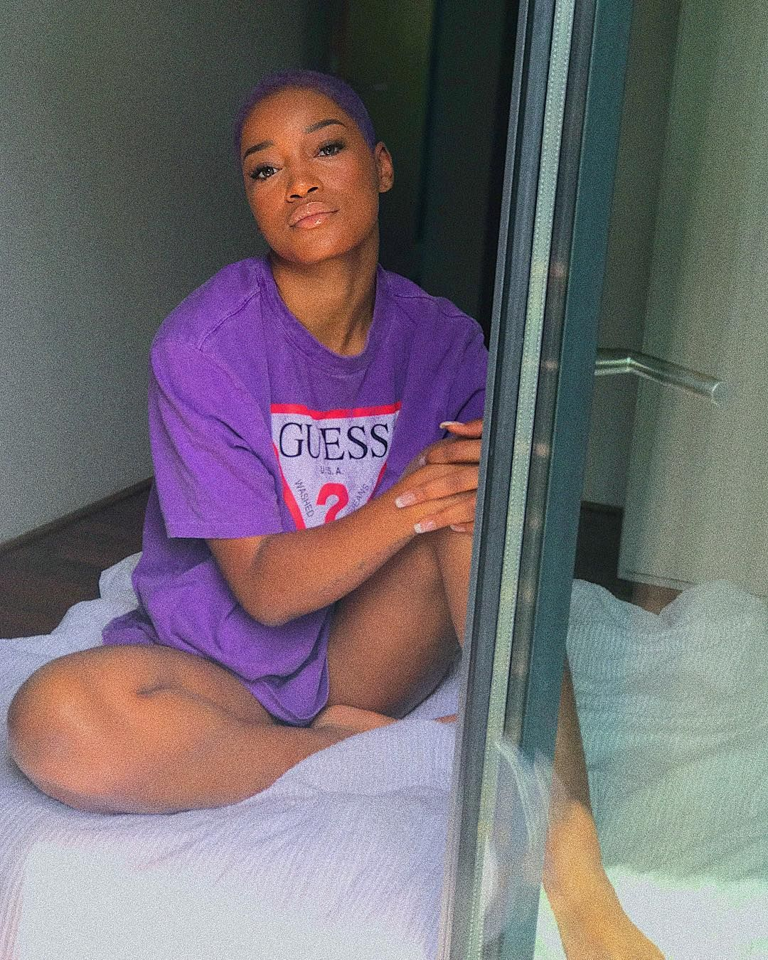 Keke Palmer Reveals Why She Shaved & Dyed Her Hair Purple