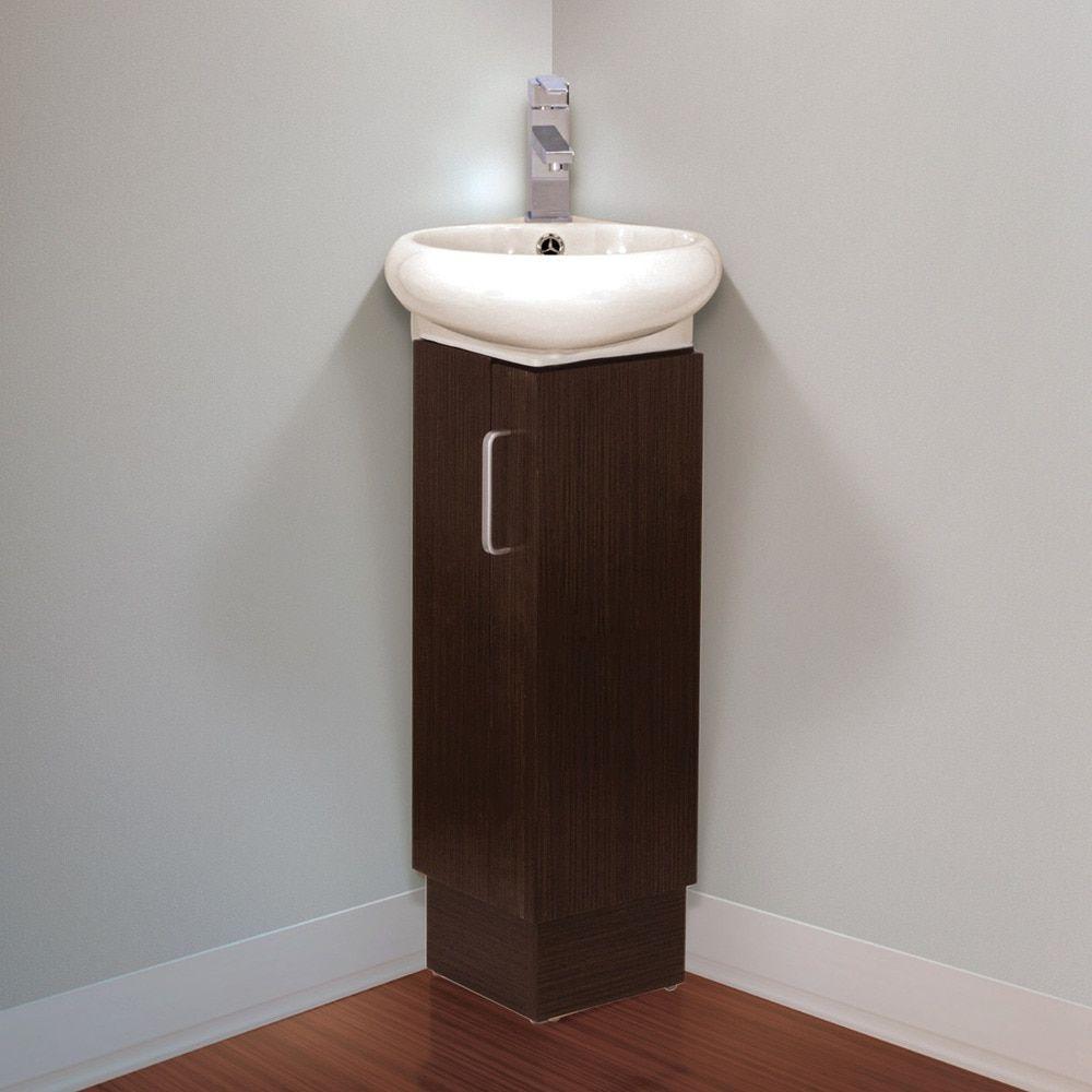 Fine Fixtures Milan Small Solid Wood Corner Bathroom