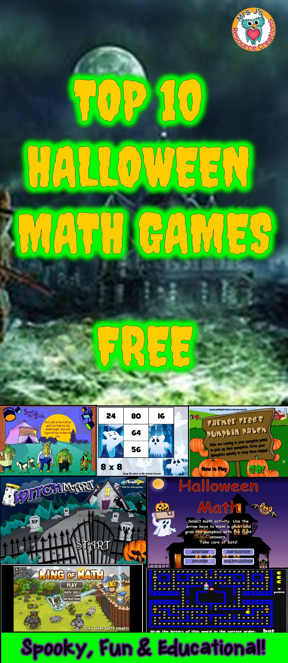 Halloween math games free to play online! | TpT Blogs | Pinterest ...