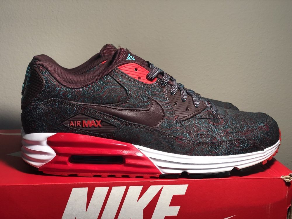 Nike Air Max Lunar 90 Suit and Tie QS Burgundy Size US 11
