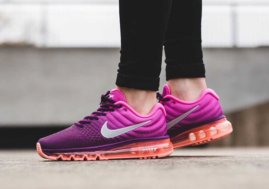 Nike Air Max 2017 Night Maroon Gym Red On Foot