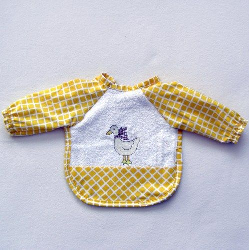 Childs Bib with sleeves - FREE SHIPPING | jillndee - Childrens on ArtFire