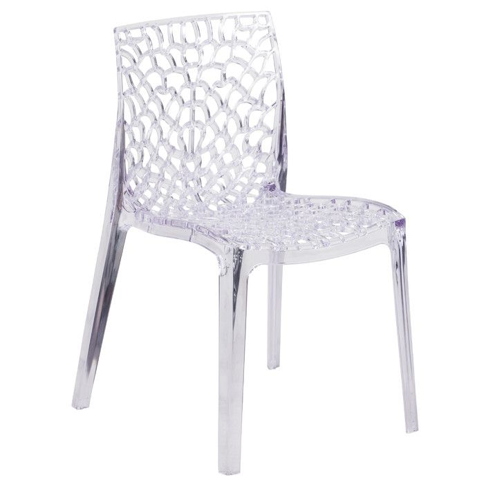 Flash Furniture Armless Vision Series Transparent Stacking Chair U0026 Reviews  | Wayfair