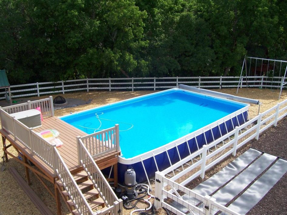 Deck Ideas For Intex Above Ground Pools Pool Decks Glittering