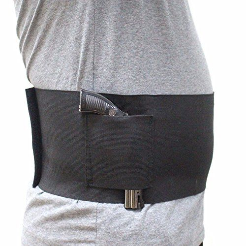 Tactical Belly Band Concealment Holster with 2 Magazine Pouches Carry Adjustable