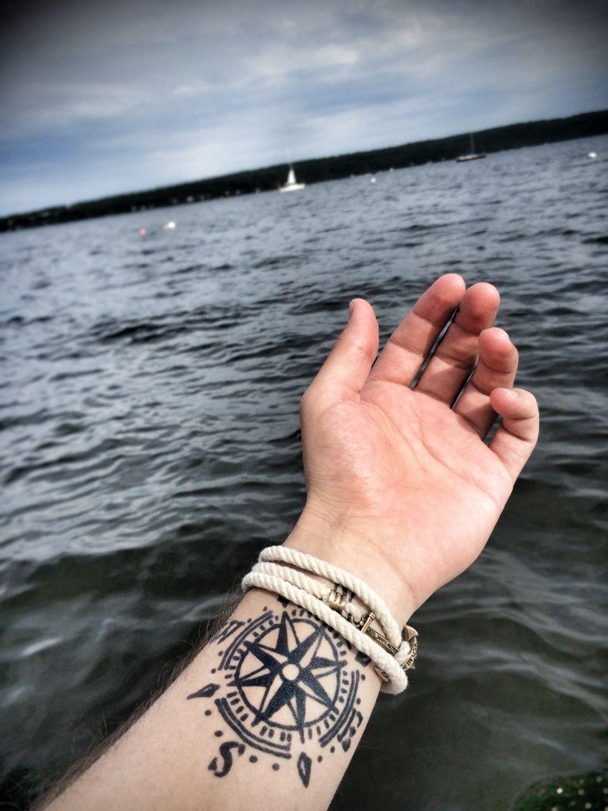 Tatouage homme avant bras rose des vents tatoo pinterest tatouage homme avant bras et - Tatouage rose des vent ...