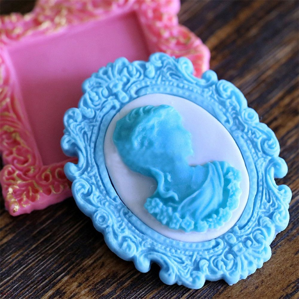 Mirror Silicone Mould Fondant Cake Mold for Wedding Party Cake Decoration
