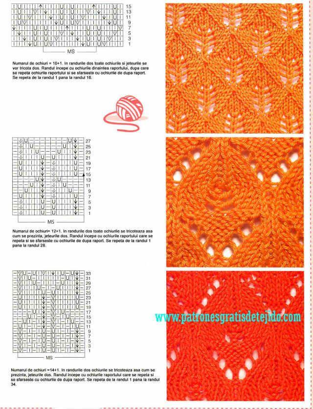Libro de 72 Patrones de Puntos Dos Agujas / imágenes y archivo PDF ...