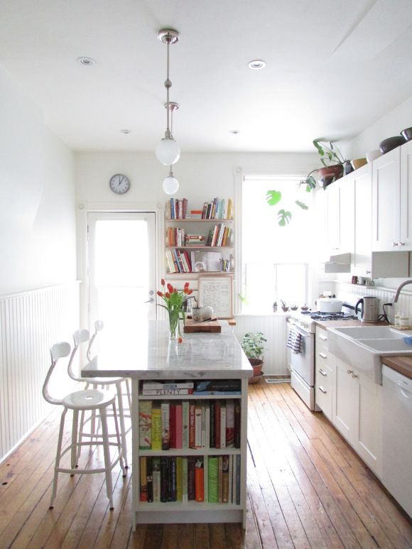 Small Modern Galley Kitchen With Island Novocom Top