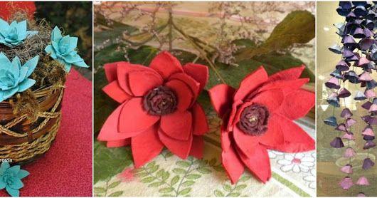10 Hermosas Manualidades Con Cartones De Huevo Que Ya No Sirven Diy Flowers Flowers Gift Wrapping