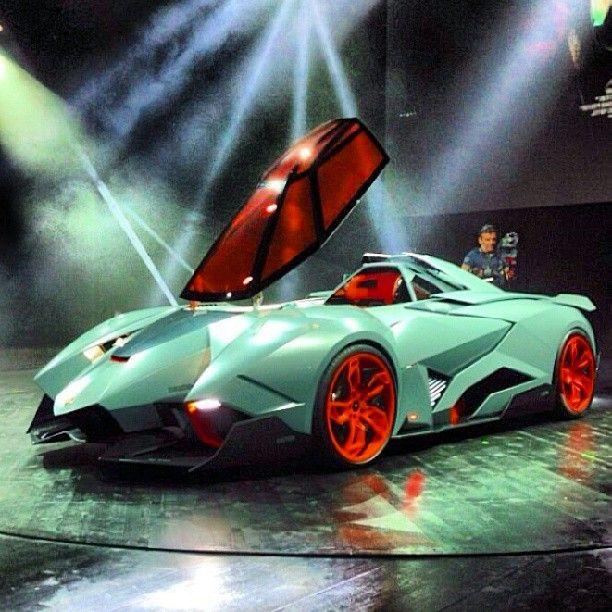 Lamborghini Egoista Concept Car Black: #Lamborghini Ecoista Concept
