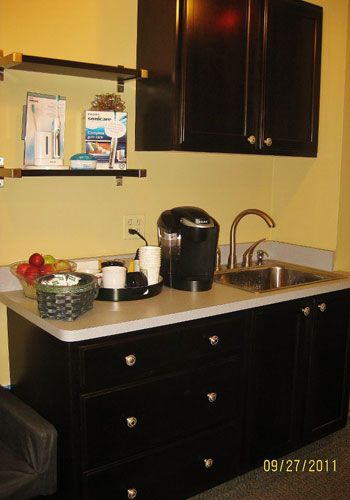 Bathroom Remodeling Ypsilanti Mi beverage station to refresh you! dr.schmidt's dental office