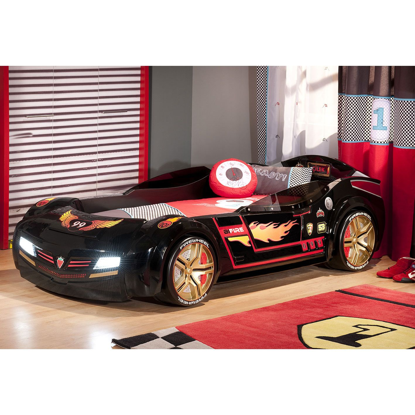 Cilek Need For Sleep Night Rider Turbo Car Bed With Roadster