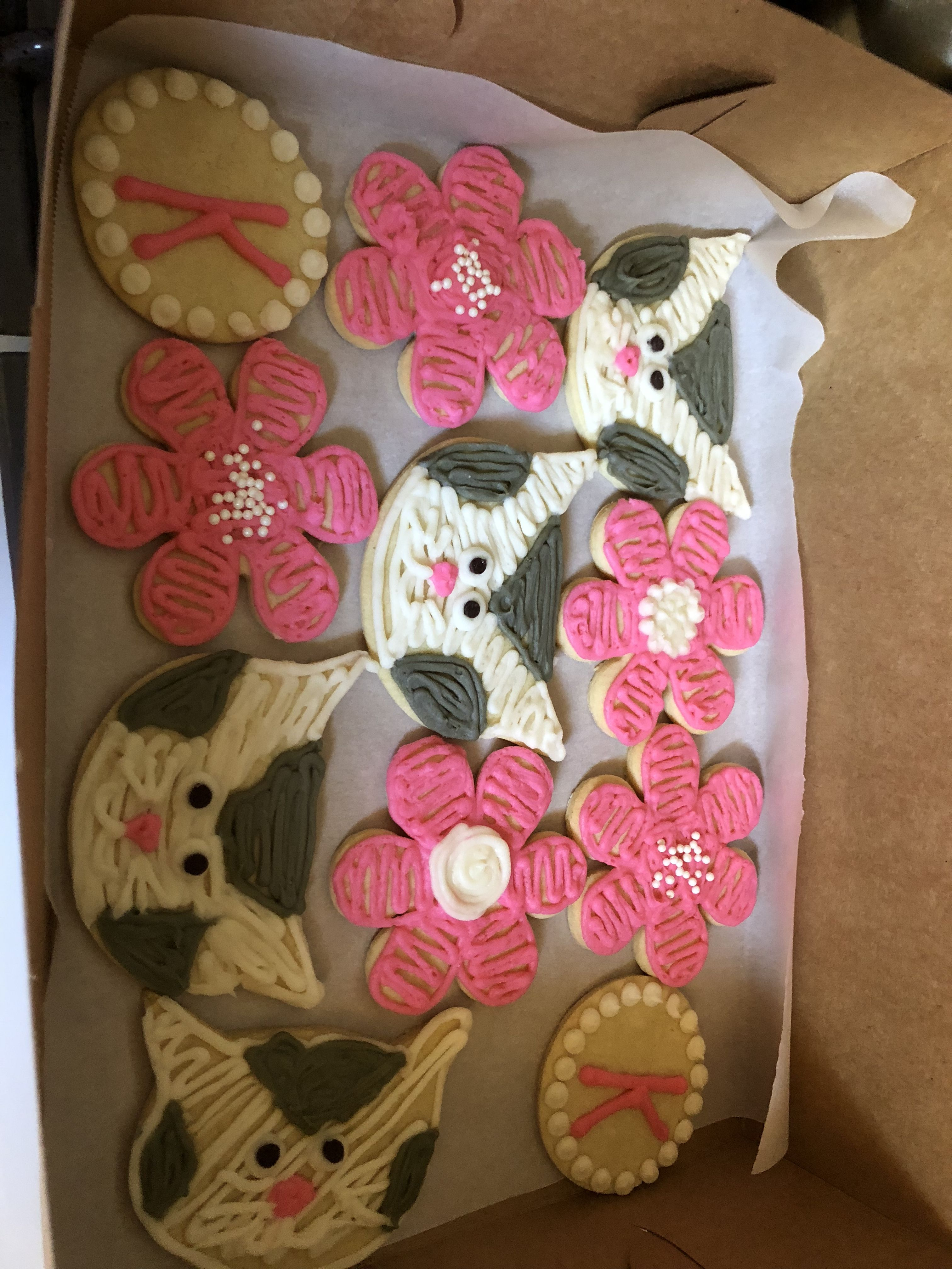 Flower And Kitty Cookies