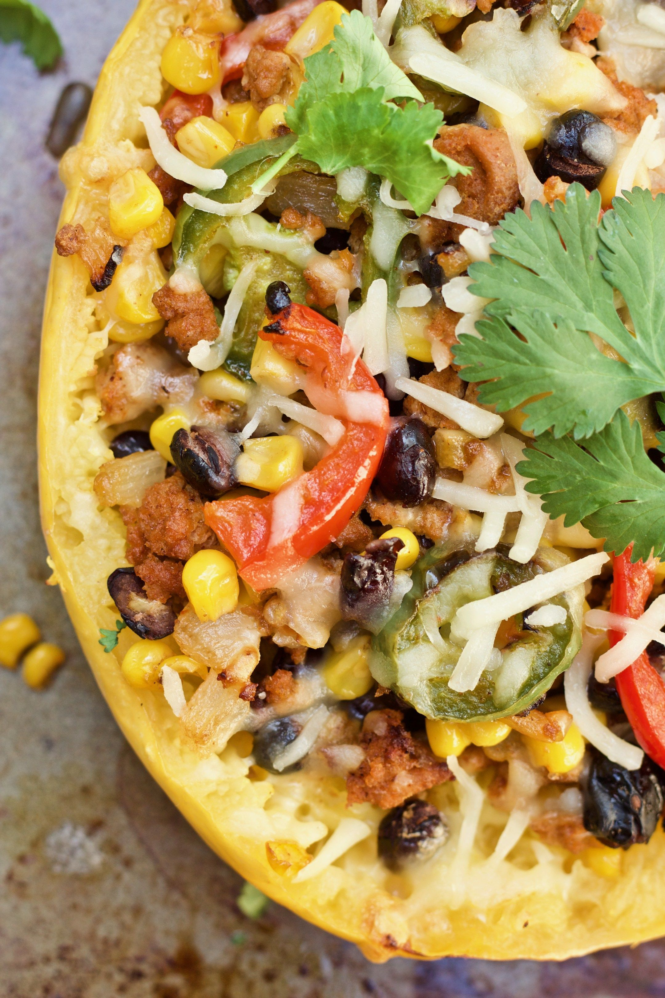 Easy Healthy Mexican Spaghetti Squash Boats Food In 2019
